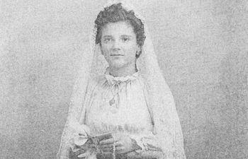 Madre de José Francisco Roldán en su Primera Comunión. Foto: Familia de José Francisco Roldán.