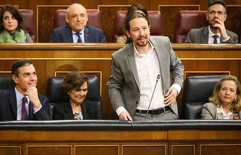Intervención de Pablo Iglesias.