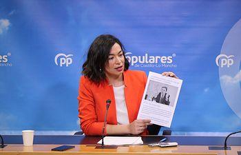 Claudia Alonso, portavoz del PP de Castilla-La Mancha.
