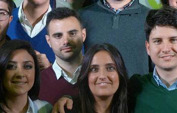 El presidente nacional de Nuevas Generaciones, Diego Gago, interviene en la presentación de la Ruta Joven de NNGG en Andalucía