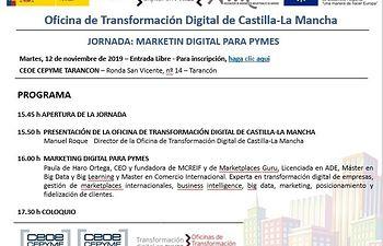 Jornada informativa empresarial sobre marketing digital.