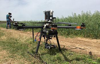 Dron en agricultura.
