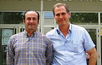 Antonio Cañones (izqda) y Tomás Landete