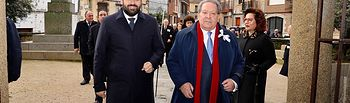 Paco Núñez, presidente del PP-CLM, Paco Núñez, en su visita a la localidad de Herreruela de Oropesa.
