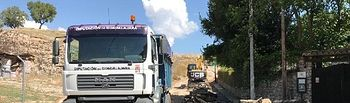 La Diputación ya trabaja sobre el terreno para restablecer la normalidad en los pueblos afectados por el temporal