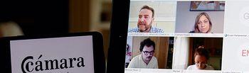La portavoz de Ciudadanos en Castilla-La Mancha, Carmen Picazo, ha mantenido videoconferencia de trabajo con el presidente de la Cámara de Comercio, Juan Martínez Moraga.