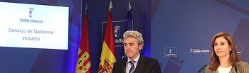 Marta García y Leandro Esteban. Rueda de prensa Consejo de Gobierno 230315 II. Foto: JCCM.