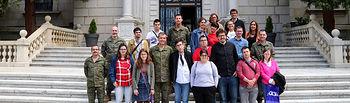 Fotografías del acto de presentación del Plan de Acción Social de la Academia de Infantería.