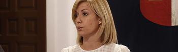 Isabel Abengózar, portavoz del PSOE en las Cortes de Castilla-La Mancha.