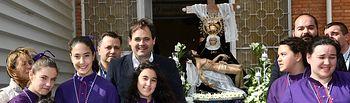 Paco Núñez asiste a la procesión infantil de Semana Santa de Albacete