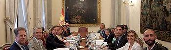 Reunión con motivo de la conmemoración del IV centenario de la muerte de Cervantes. (Ministerio de Educación, Cultura y Deporte). Foto: Ministerio de Educación, Cultura y Deporte.