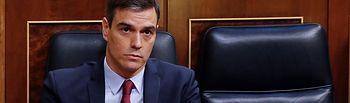 El presidente del Gobierno, Pedro Sánchez, durante la sesión de control al Ejecutivo en el Congreso en Madrid este miércoles, en Madrid (España), a 13 de mayo de 2020. Foto: Europa Press 2020