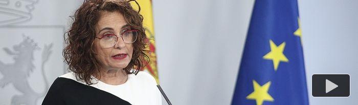 María Jesús Montero, ministra portavoz y de Hacienda, comparece ante los medios tras el Consejo de Ministros celebrado en Moncloa, en Madrid (España), a 26 de mayo de 2020. Foto: Europa Press 2020
