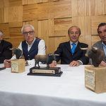 Presentación de la gala de la X edición de los Premios  Samueles. De i. a d., Manuel Amador (torero), Manuel Lozano (director de La Cerca), Samuel Flores (Ganadero y presidente de Honor del Jurado de Los Premios Samueles), y Dámaso González (torero).