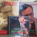 Algunos libros y un CD musical de Manuel Gerena. Archivo.