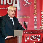 Manuel Lozano Serna, director de La Cerca, durante un momento de su discurso.