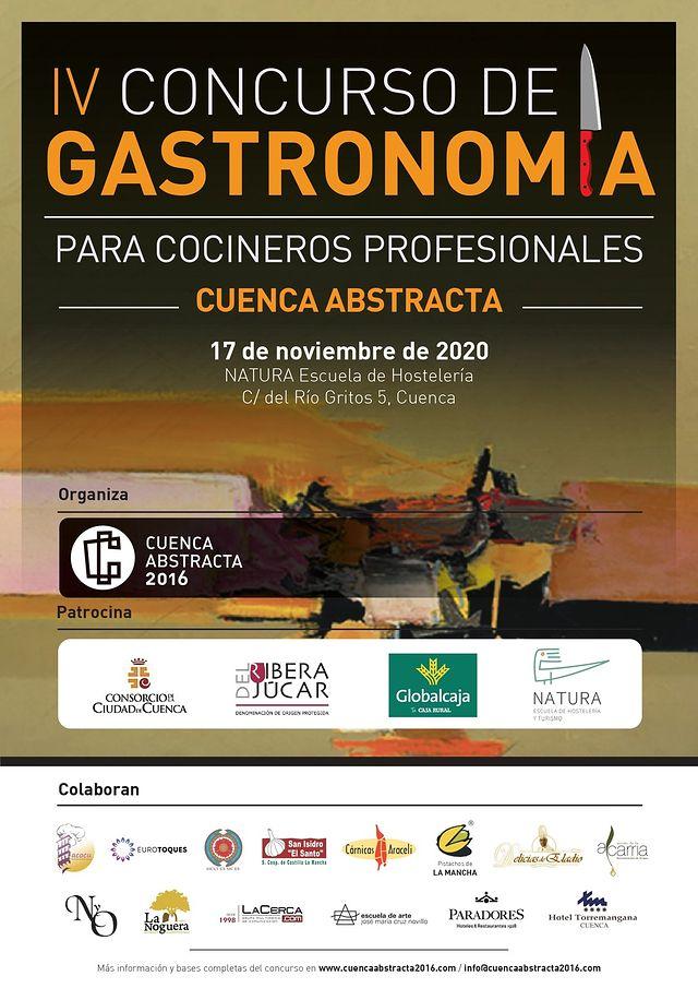"""Cartel IV Concurso de Gastronomía """"Cuenca Abstracta""""."""