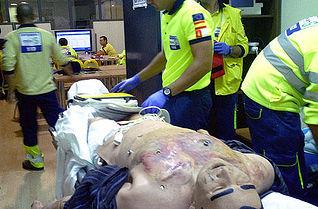 Imagen del curso de simulación clínica en emergencia prehospitalaria