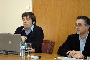 Paternostro, junto al profesor de la UCLM Juan José Jiménez