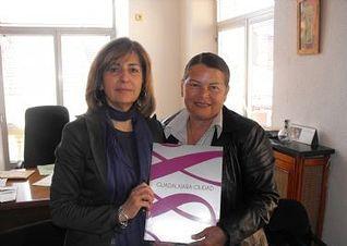 Carmen Heredia recibe en el Ayuntamiento a Blanca Flor  Bonilla, alcaldesa de la municipalidad de Ayutuxtepeque