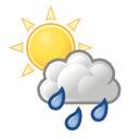despejado / intervalos nubosos con lluvia escasa