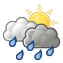 nuboso con lluvia / poco nuboso